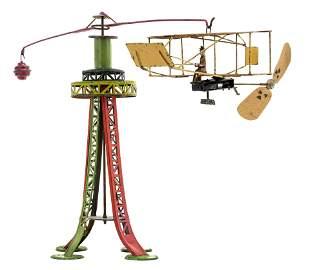 Bi-Plane Circling Tower Windup Toy