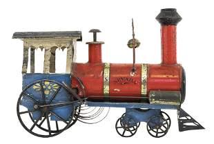 "Clockwork Locomotive ""Nevada"" American Tin Toy"