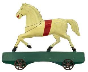 White Horse Platform Toy