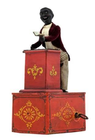 Preacher in His Pulpit Clockwork Toy