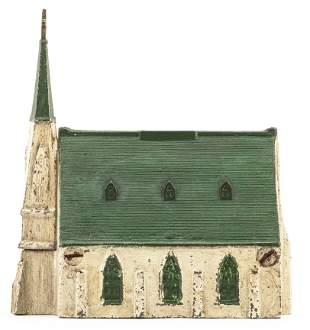New England Church with Crucifix Iron Bank