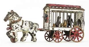 Rare Circus Menagerie Wagon Iron Toy