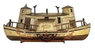 """RESCUE"" Paddlewheeler Rare & Unusual Boat Model"
