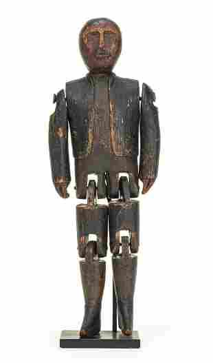 Folk Art Articulated Jigging Man