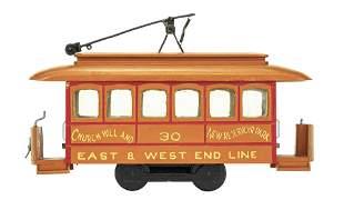 Miniature Trolley Car Model
