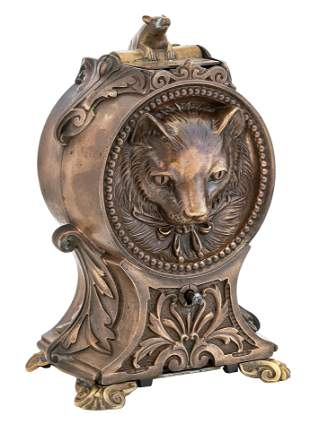Bronze Pattern for the Cat and Mouse Bank