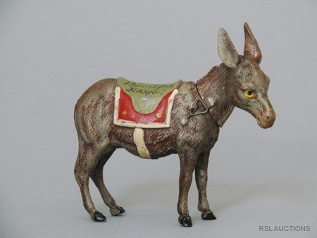12: Donkey German Spelter Still Bank