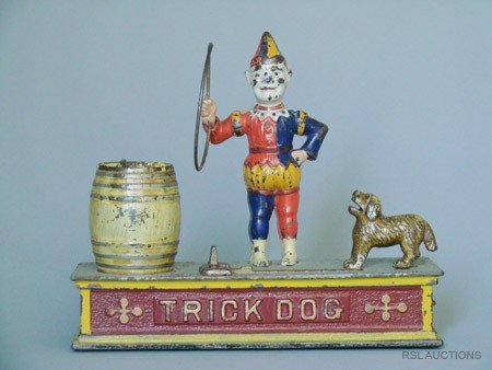 532: Trick Dog, Six part Base Mechanical Bank