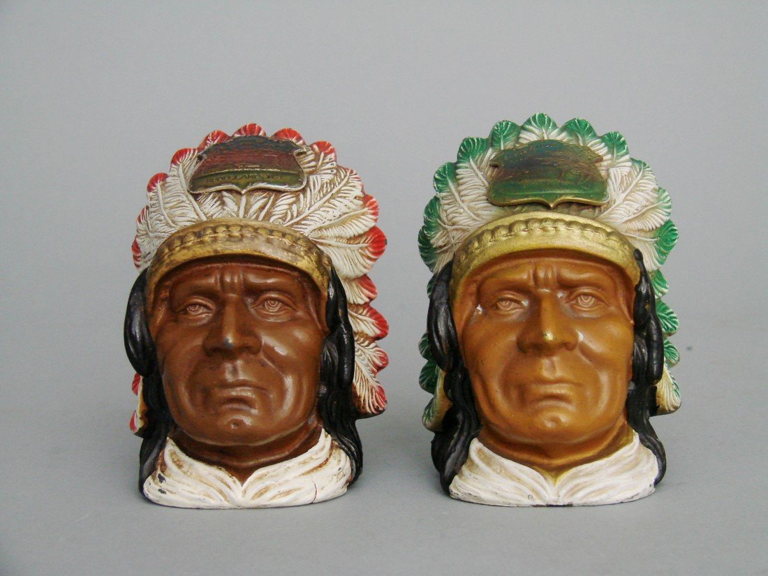 1: Pair of Indian Bust Banks