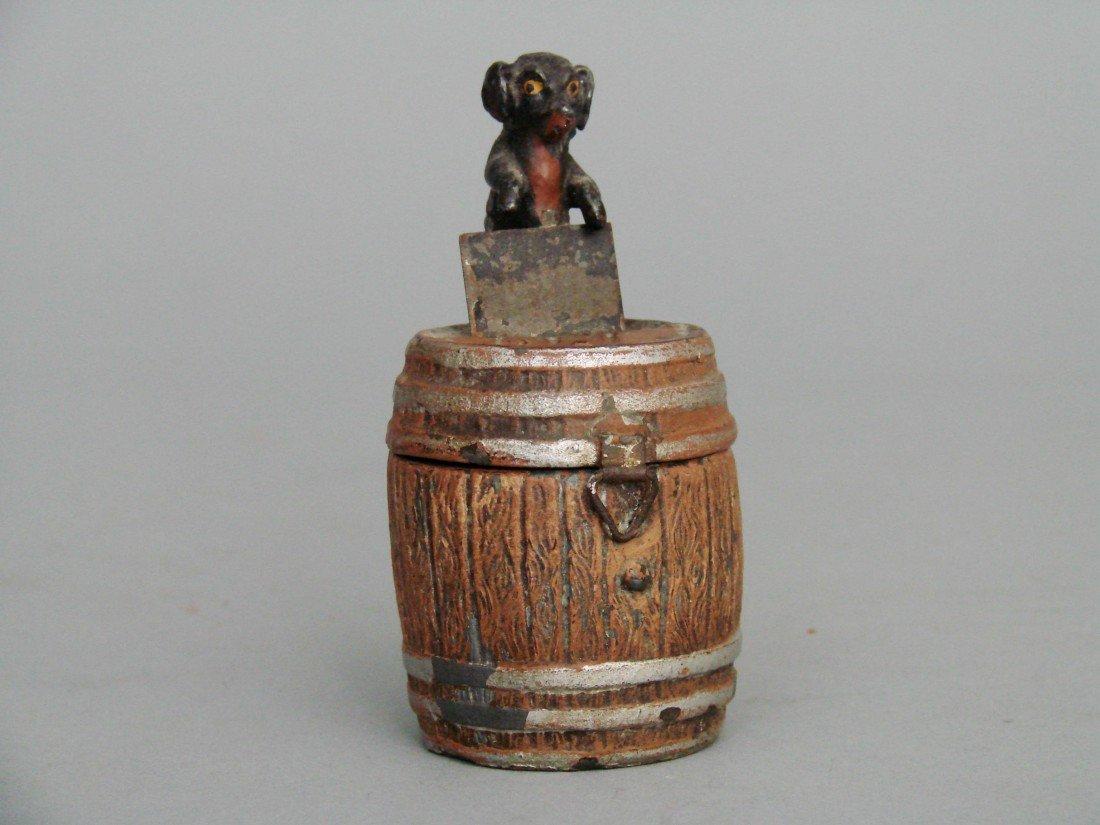 5: Dachshund on Top of Barrel