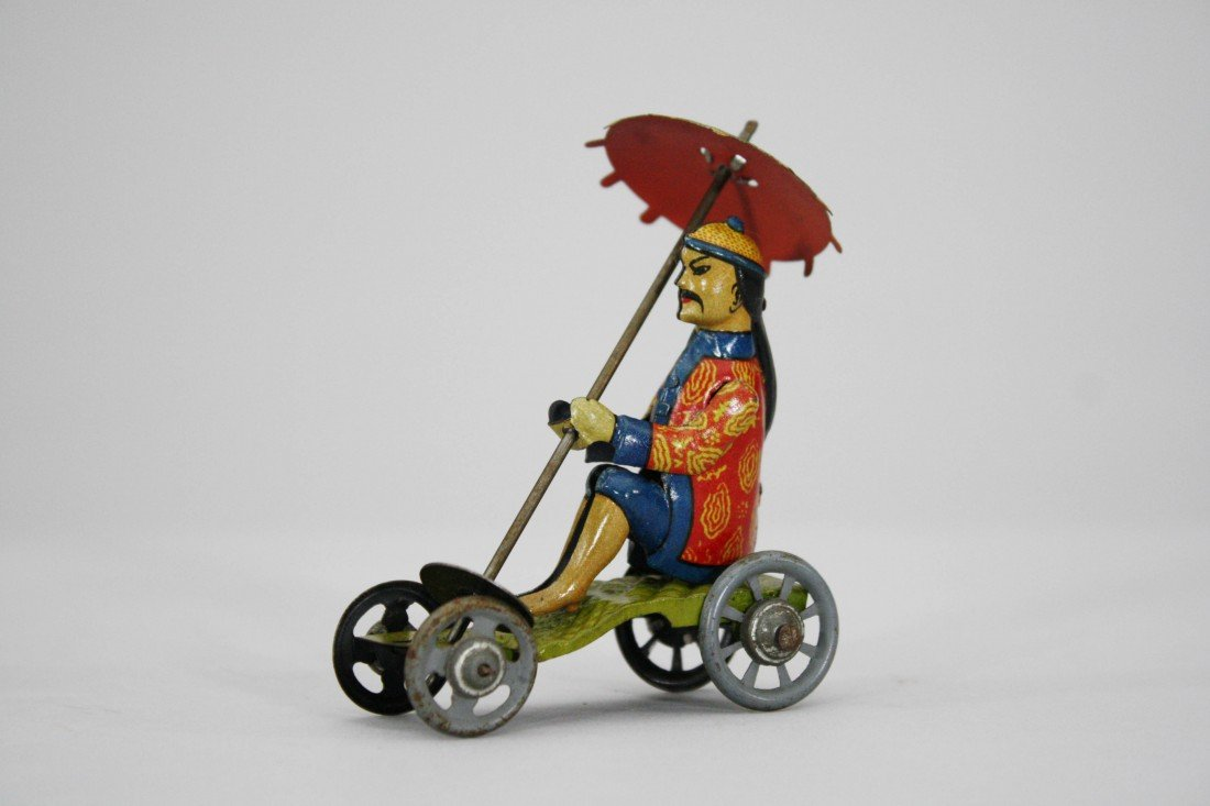 408: Chinese Man with Parasol Penny Toy