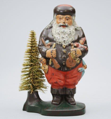 1: Santa with Removable Wire Tree, Multicolor