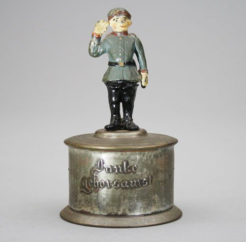 9: German Soldier Saluting Still Bank
