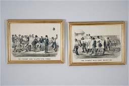 275 Lot Two Lithographs Black Americana