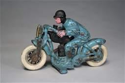 Hillclimber Motorcycle Hubley Cast Iron