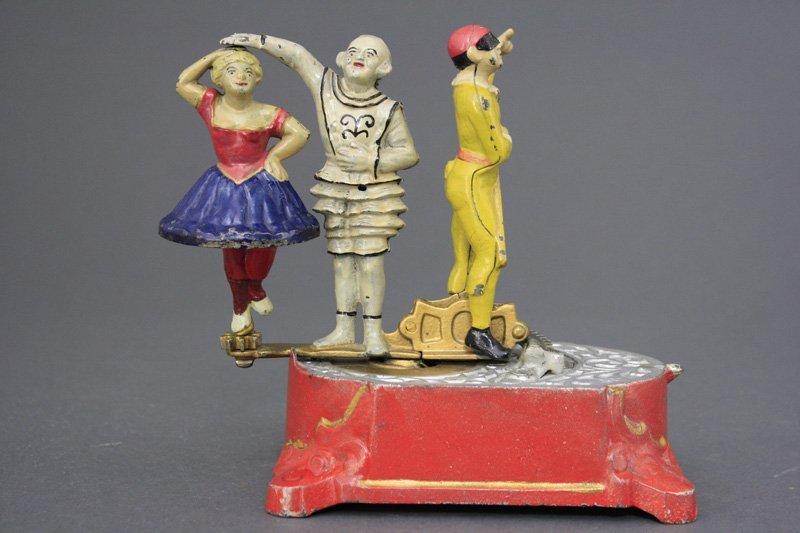 Clown, Harlequin and Columbine Mechanical Bank