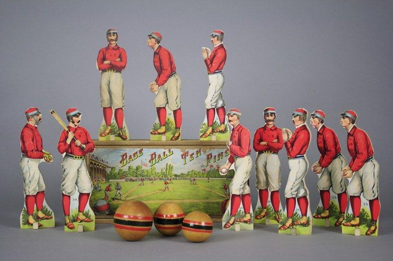 Baseball Ten Pins Paper Litho