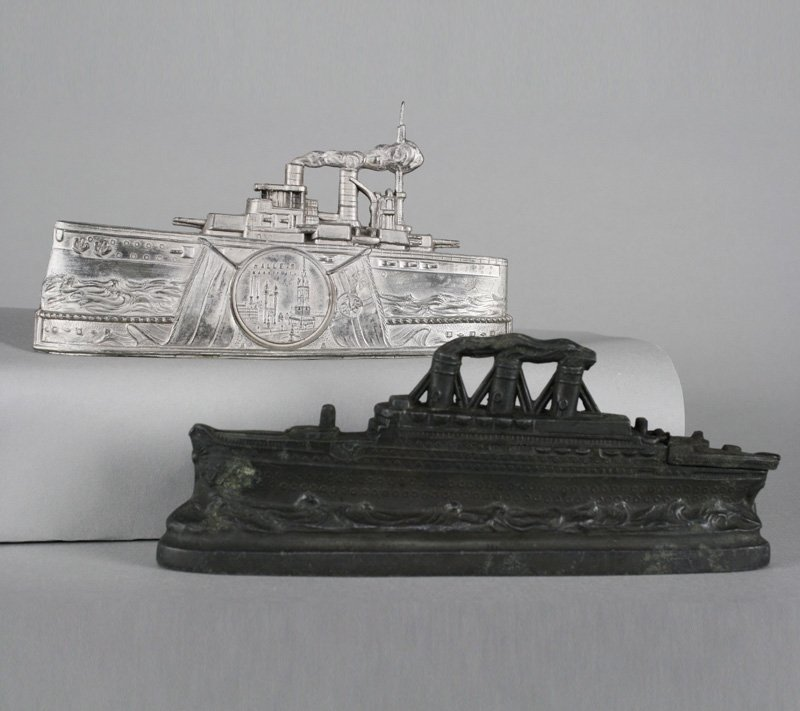 One Ocean Liner and One Battleship