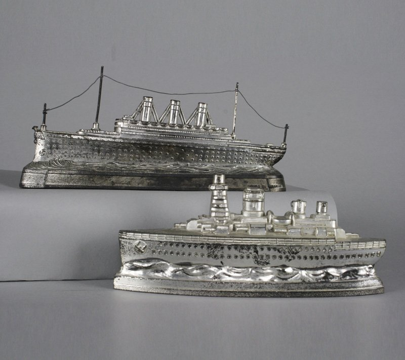 One Battleship and One Ocean Liner