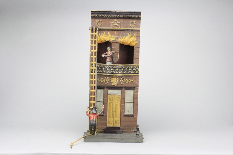 Two Story Burning Building
