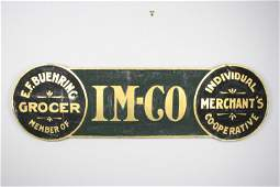 IM-CO Grocery Sign (Individual Merchant Co-Operative)