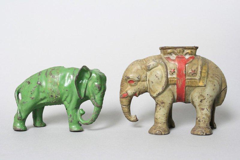 Two Elephants / Green – Gray Still Bank