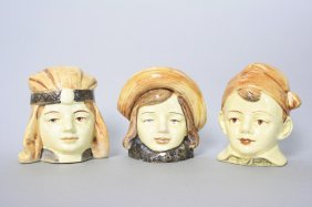 Three Porcelain Bust Banks Still Bank