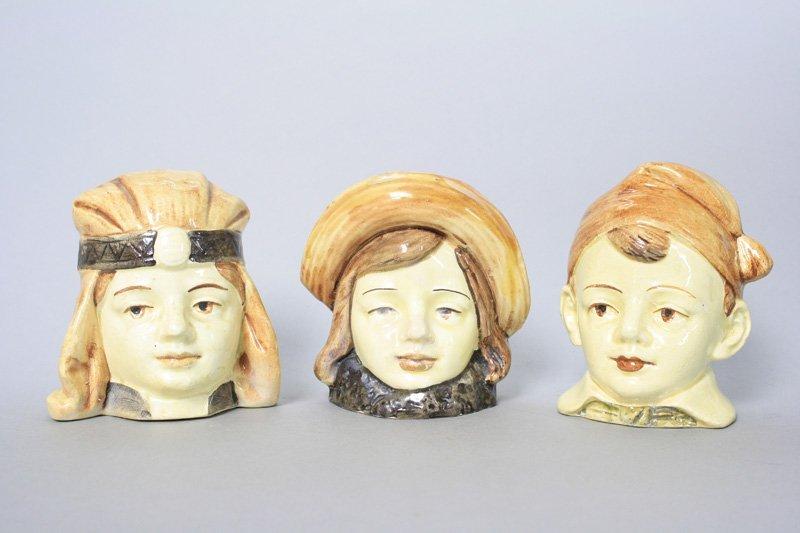 Three Porcelain Bust Banks Still Bank