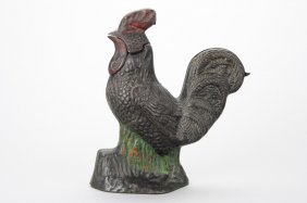 Rooster Bank Mechanical Bank
