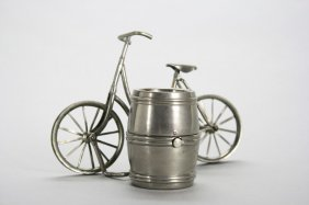 """Woman's Bicycle By Barrel - 4.5"""" Long Still Bank"""