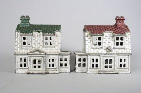 Two Colonial Houses, Large Architectural Bank