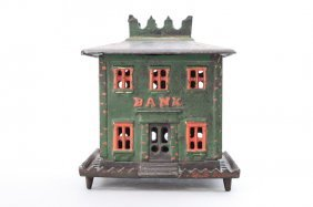 Crown Bank On Legs, Large Architectural Bank