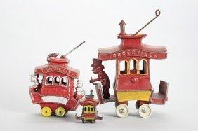 Three Toonerville Trolleys Cast Iron