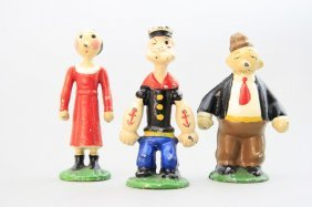 Popeye, Olive Oyl And Wimpy Paperweight