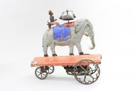 Monkey Riding Elephant Bell Toy
