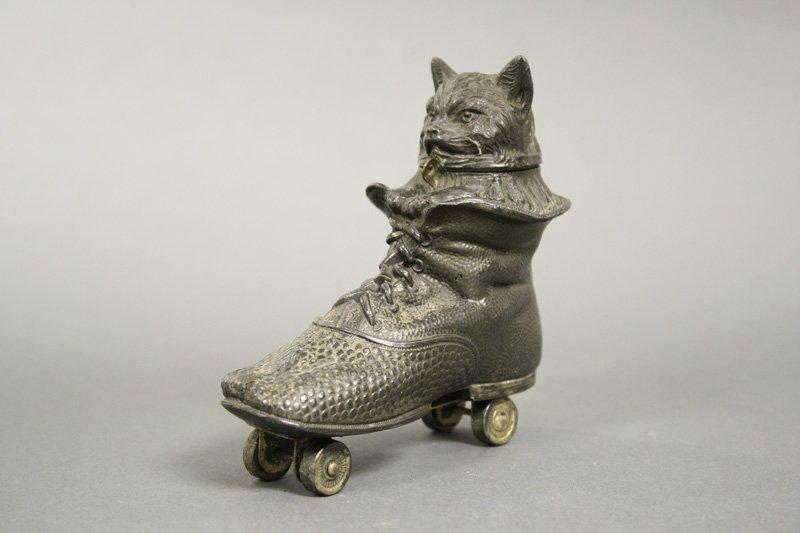 Cat in Shoe on Wheels