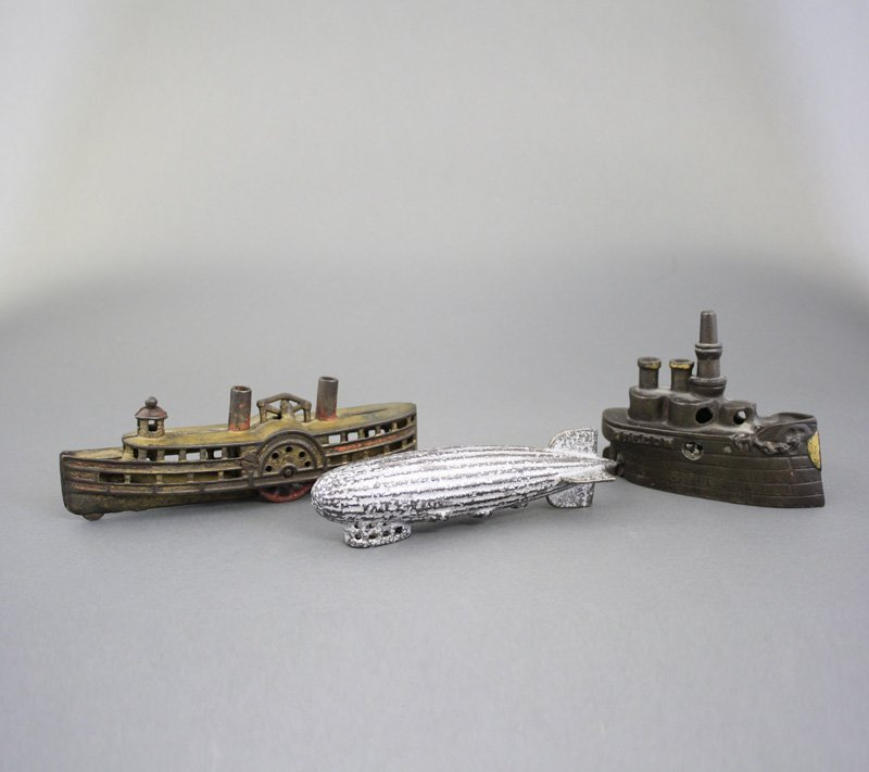 Oregon Battleship, Steamboat and Zeppelin