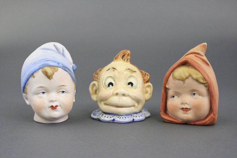 Three Bisque Busts