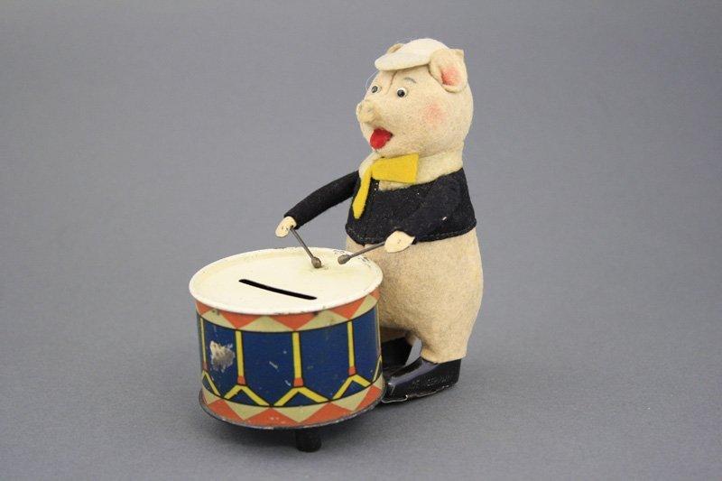 Pig Playing Drum Bank