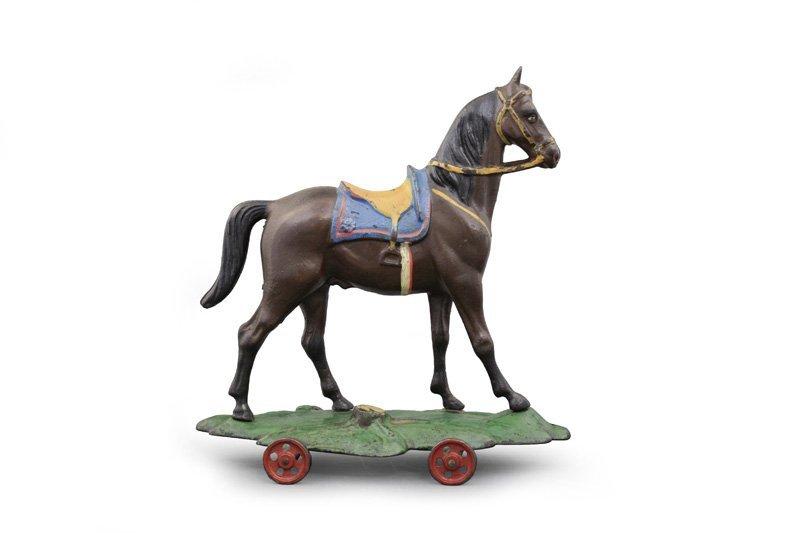 Saddle Horse on Wheeled Platform