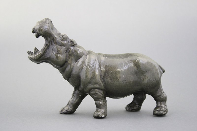 Hippo, Raised Head