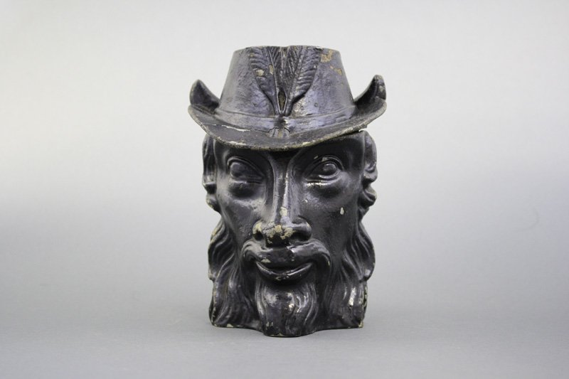 Baphomet Bust Bank A Rare Double-Faced Occult Oddity