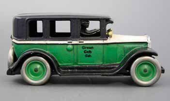 Green and White Buick Cab Bank