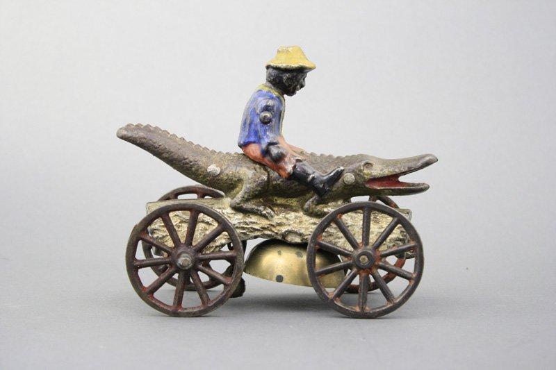 Black Boy Riding Alligator