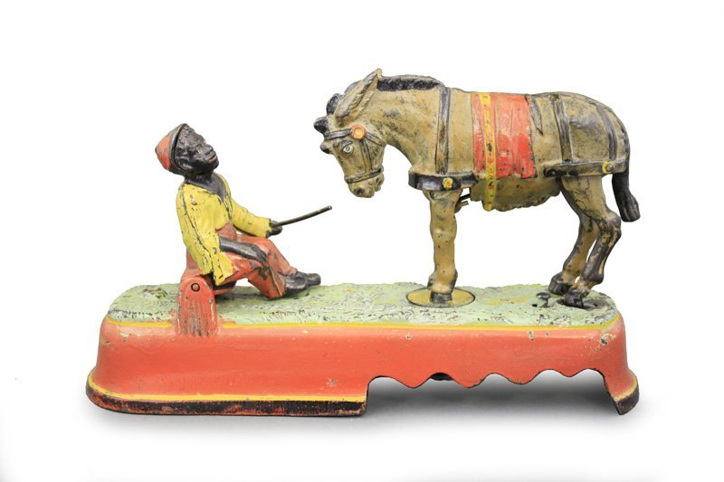 I Always Did 'Spise a Mule Boy Seated on Bench - Red