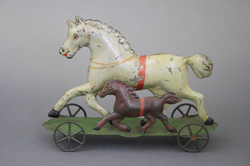 Horse and Colt on Platform