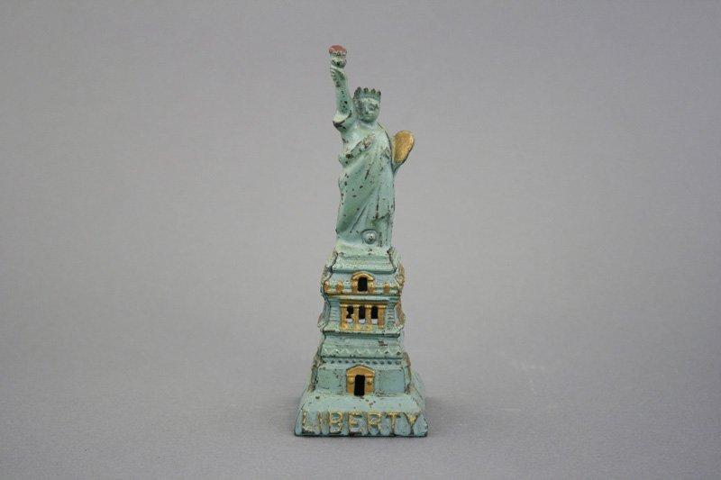 Medium Statue of Liberty Aqua Blue and Gold