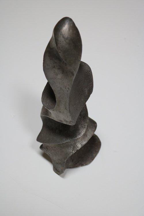 Strong and Expressive Abstract Lead Sculpture - 3