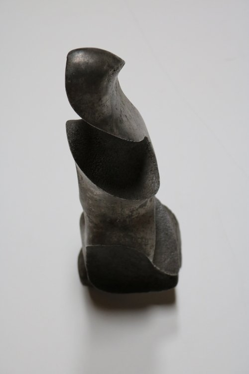 Strong and Expressive Abstract Lead Sculpture - 4