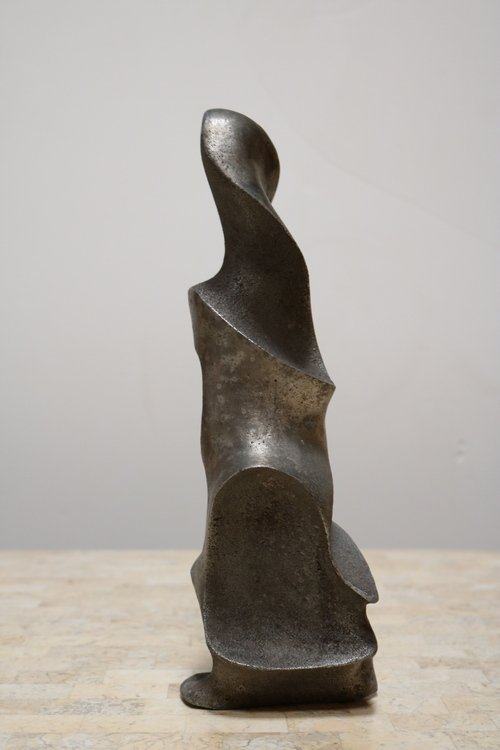 Strong and Expressive Abstract Lead Sculpture - 5